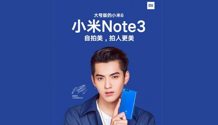 Xiaomi Mi Note 3 publicidad