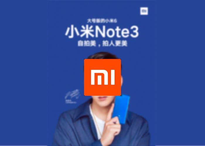 El Xiaomi Mi Note 3 será presentado junto al Xiaomi Mi MIX 2