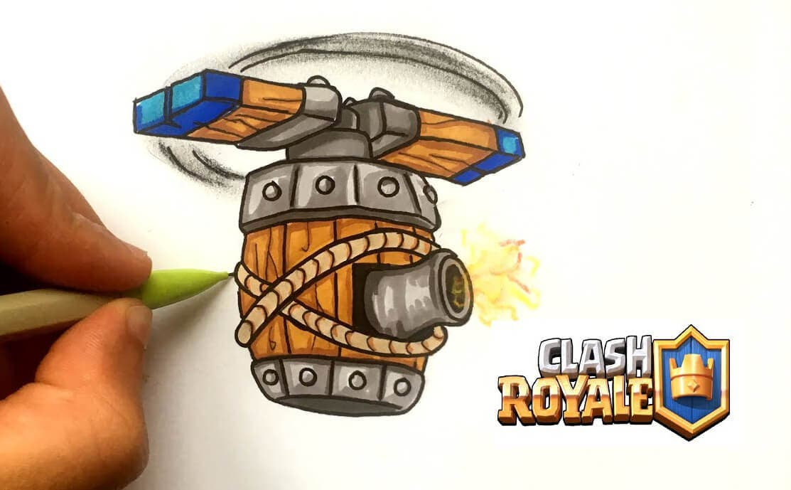 Como Dibujar La Maquina Voladora: Nuevo Desafío De Clash Royale: Consigue La Máquina