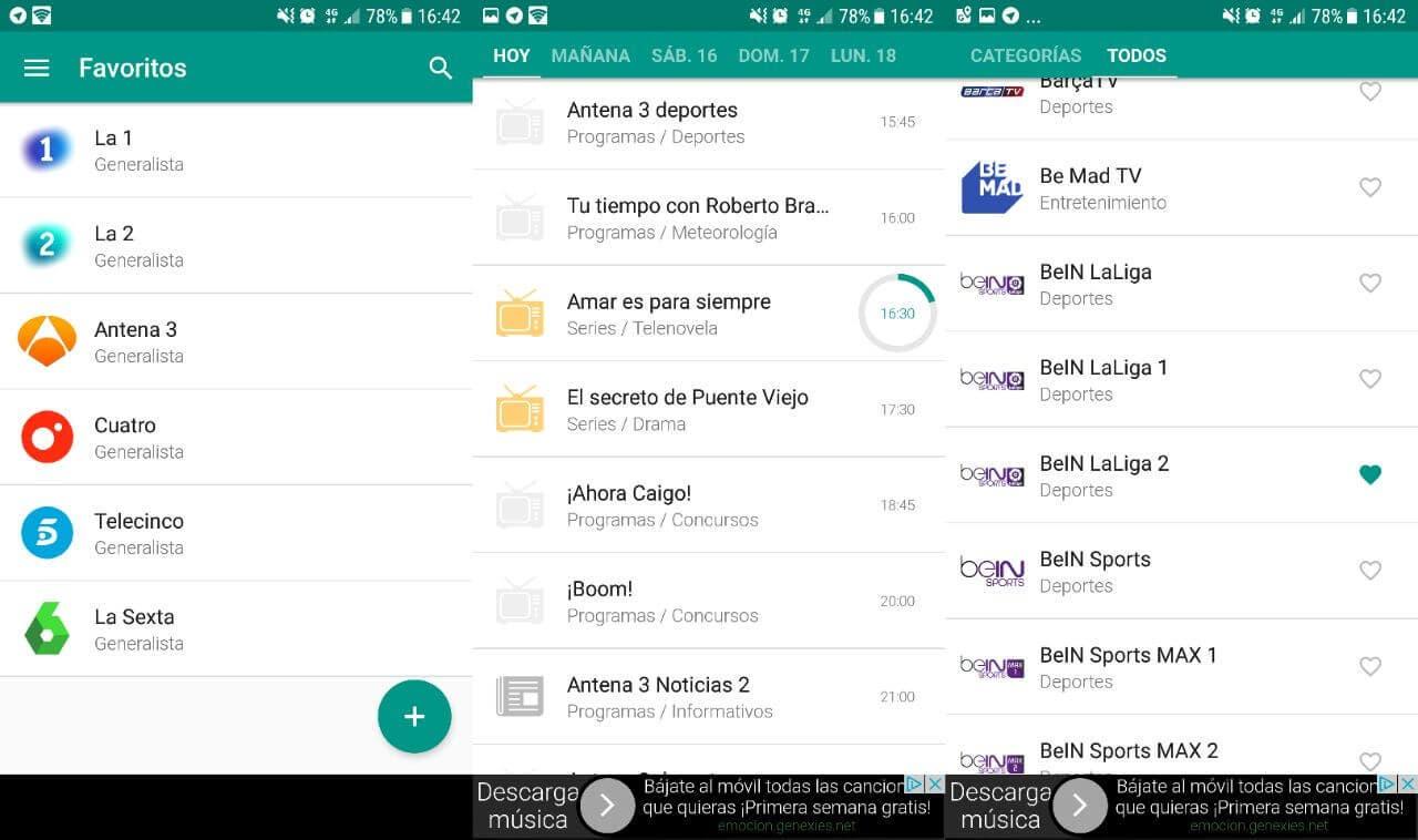 Aplicaciones Para Seguir La Programación Tv En Tu Móvil Android