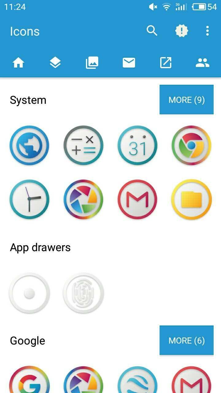iconos de Android Oreo