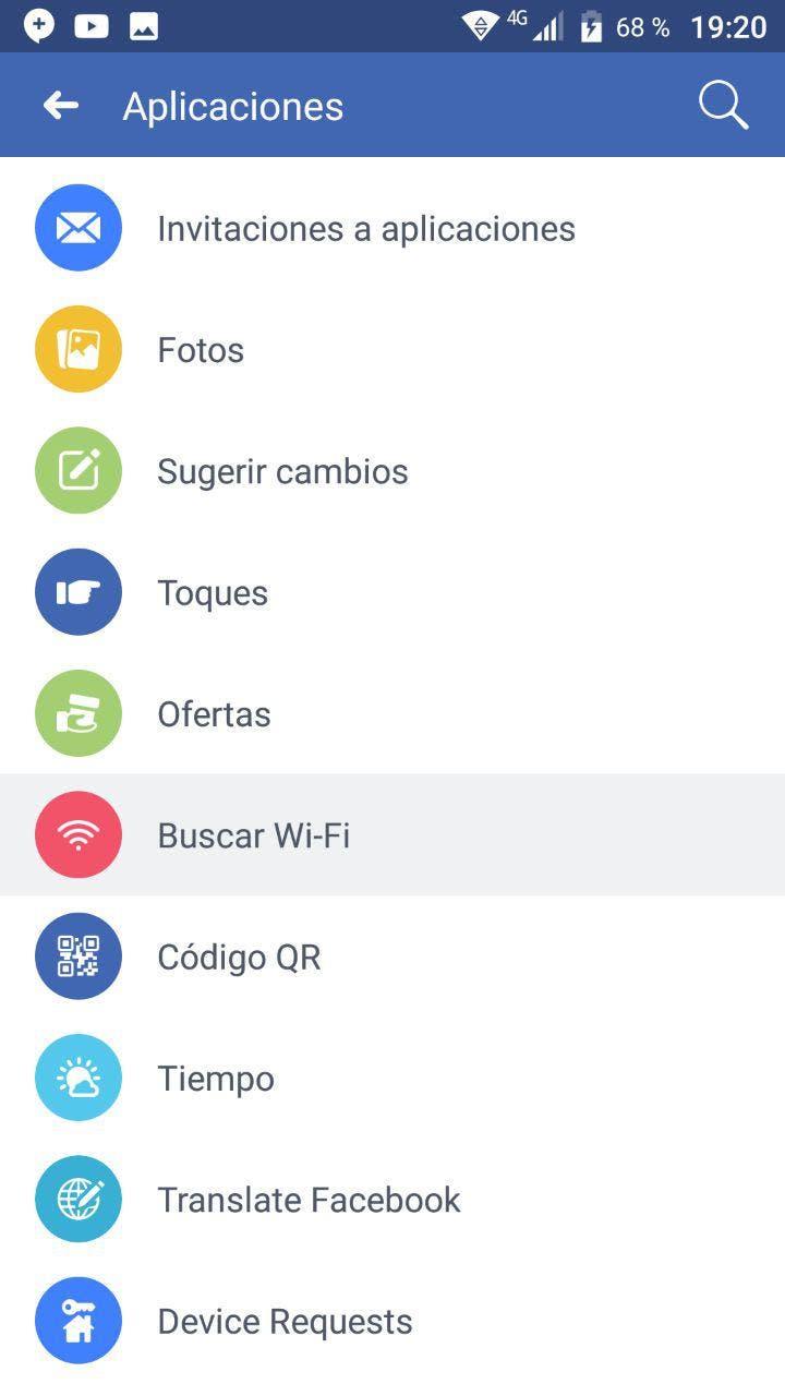 encontrar redes Wi-Fi gratis en Facebook