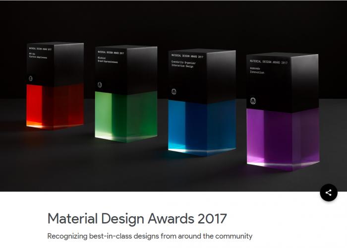 Descubre las mejores aplicaciones con los ganadores de los Material Design Awards 2017