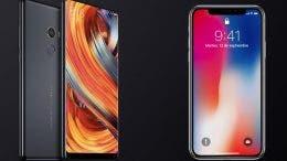 xiaomi mi mix 2 vs iphone x