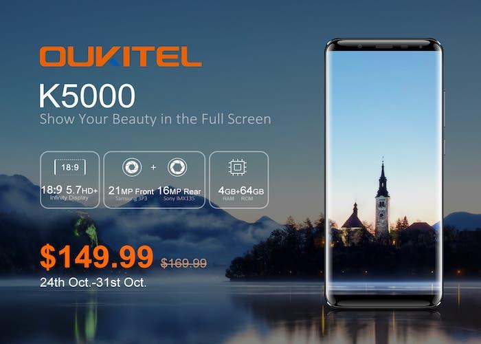Hazte con el nuevo Oukitel K5000 por menos de 130€ en promoción de lanzamiento