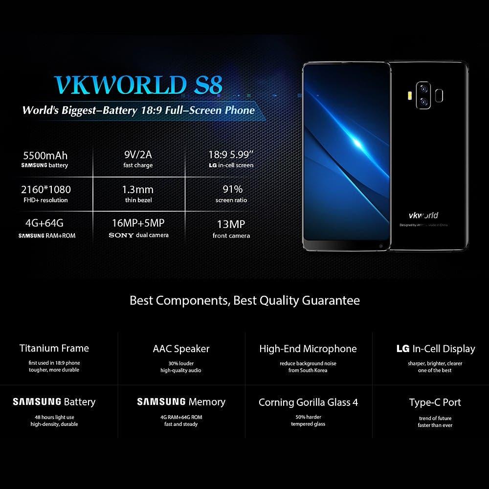 características del Vkworld S8