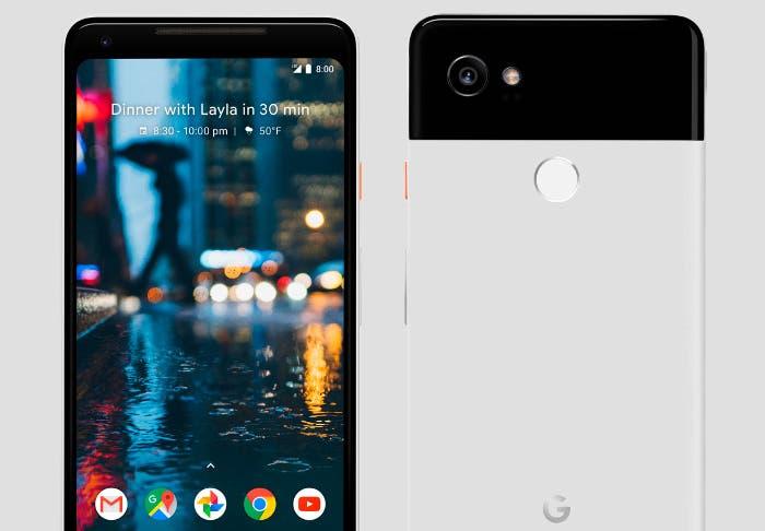 google pixel dos xl blanco