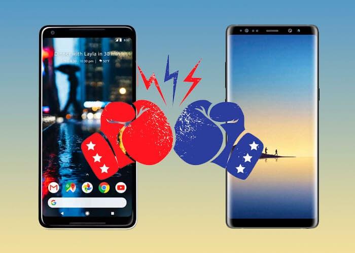 Google Pixel 2 XL VS Samsung Galaxy Note 8, dos titanes de grandes dimensiones