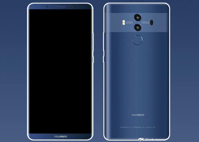 Nuevas características y renders del Huawei Mate 10 pocos días antes de ser presentado