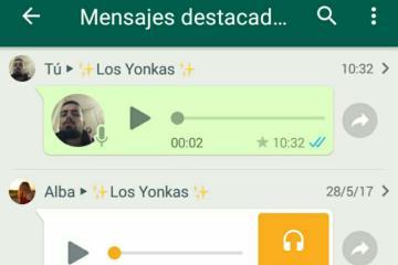 destacar mensajes whatsapp