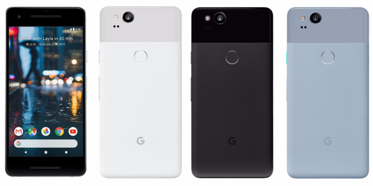 Google Pixel 2 colores