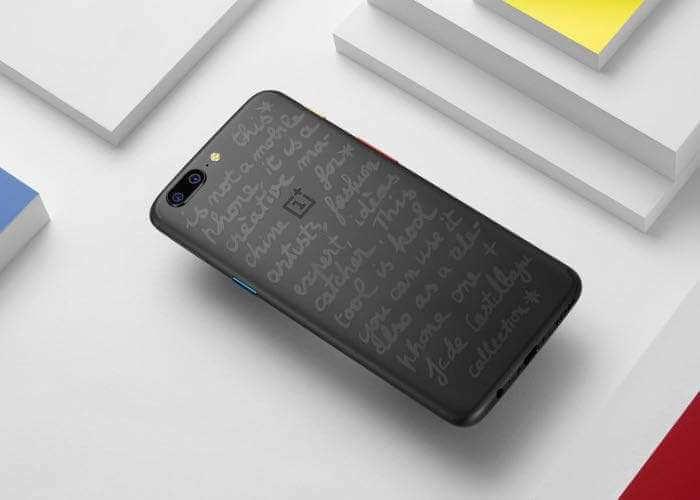 OnePlus cinco trasera