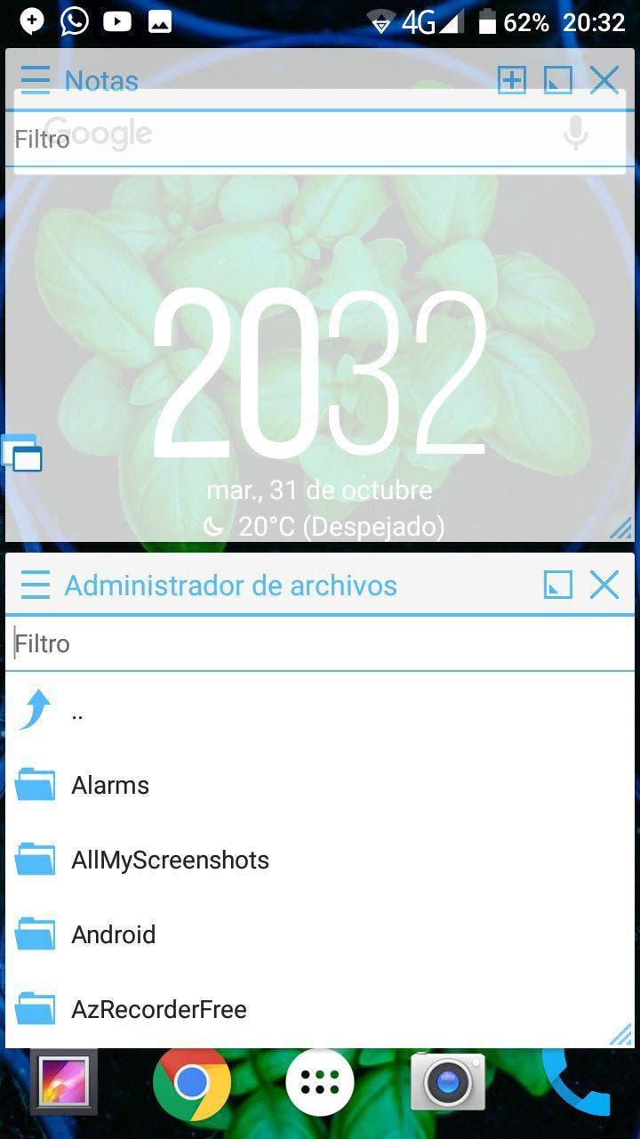 ventanas flotantes en android