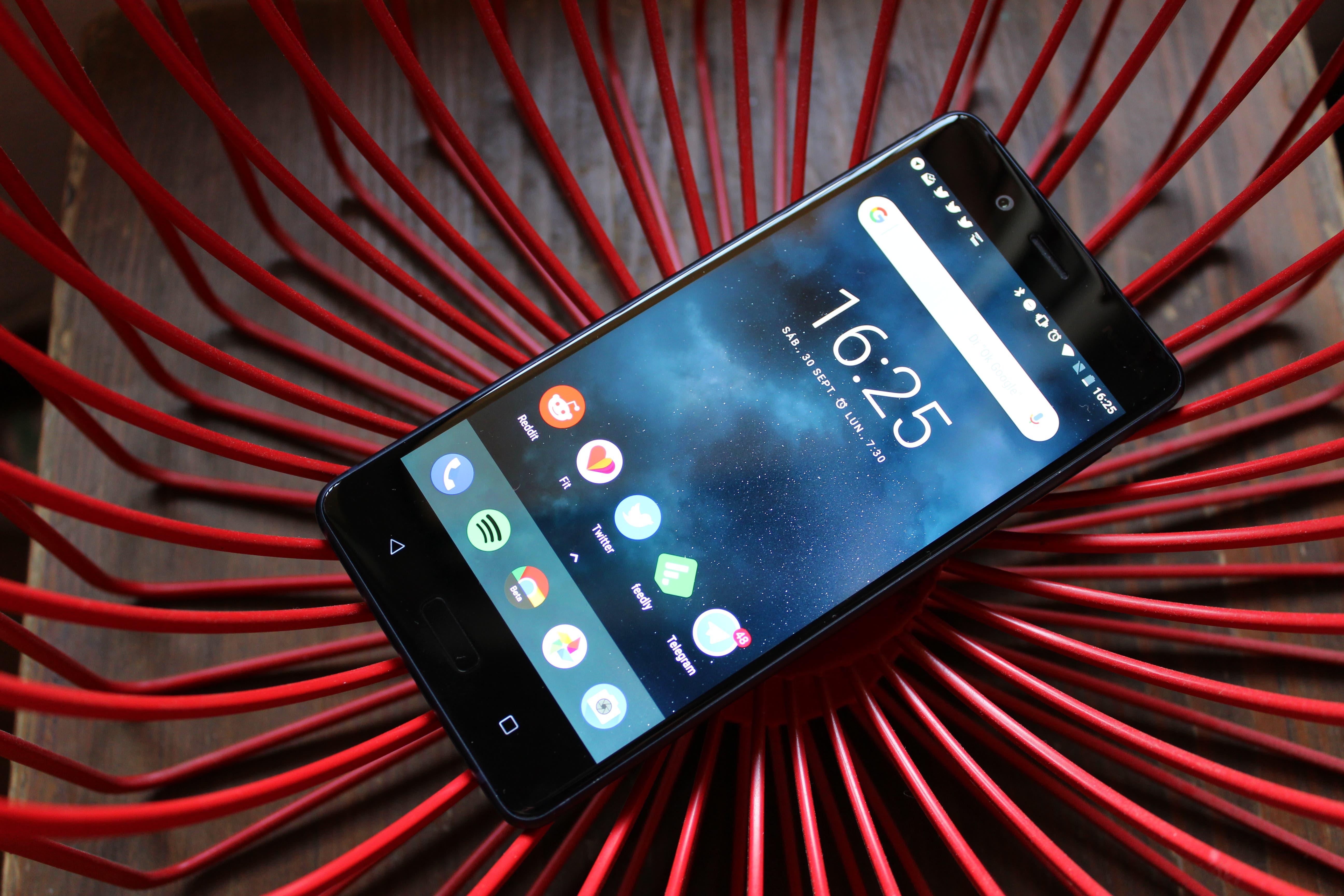 Nokia 8 en diagonal