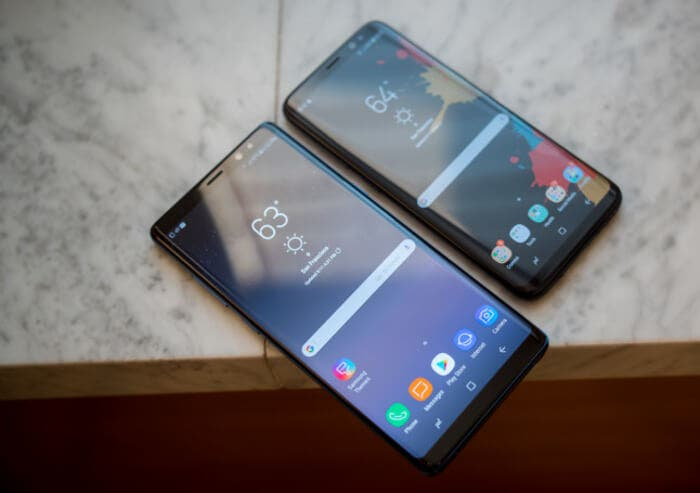 Galaxy note 8 vs lg v30 pantalla