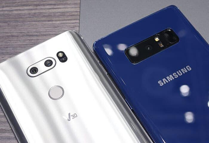 Samsung Galaxy Note 8 vs LG V30: ¿cuál de los dos es más rápido?