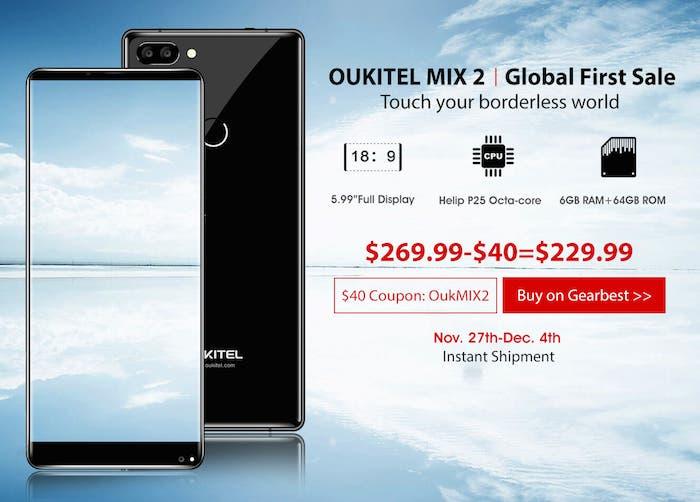 Hazte con un todo pantalla por menos de 200 gracias a esta oferta del Oukitel Mix 2