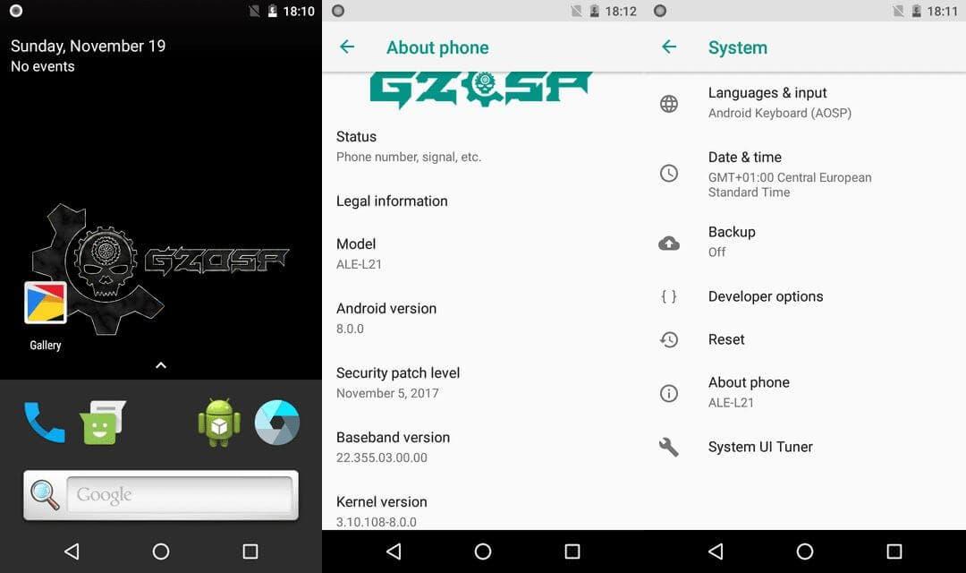 Descarga e instala Android 8 0 Oreo para el Huawei P8 Lite