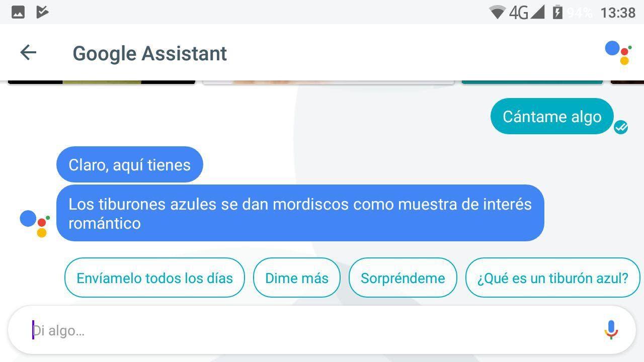 canción Google Assistant en español