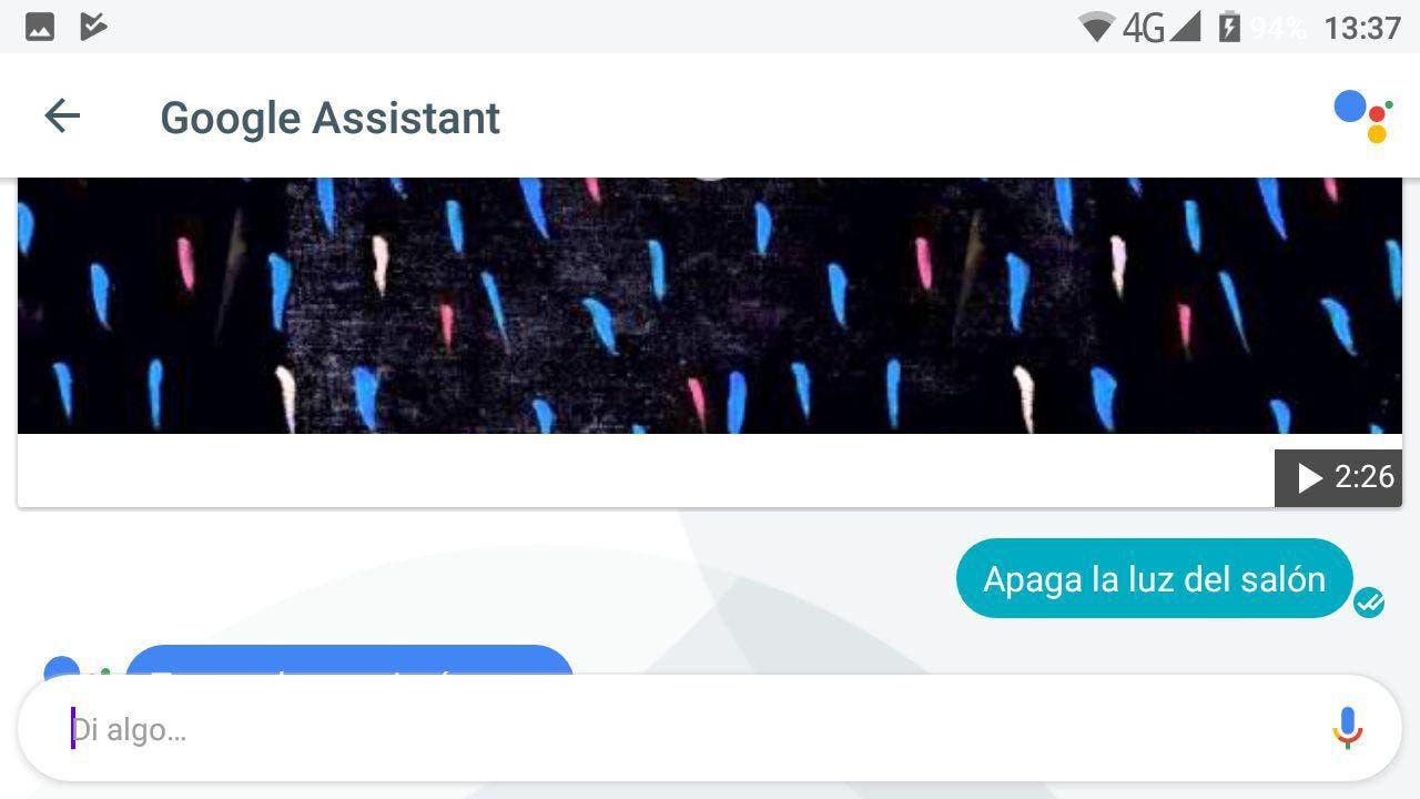 objetos inteligentes Google Assistant en español