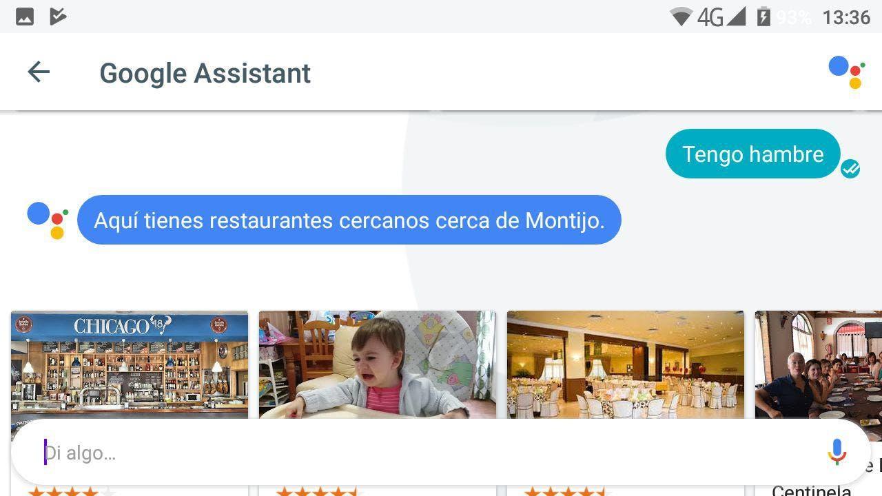 restaurantes Google Assistant en español