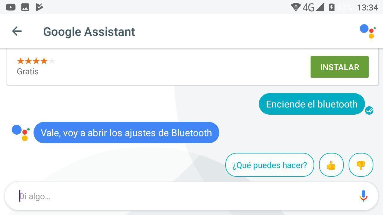 apagar bluetooth Google Assistant en español