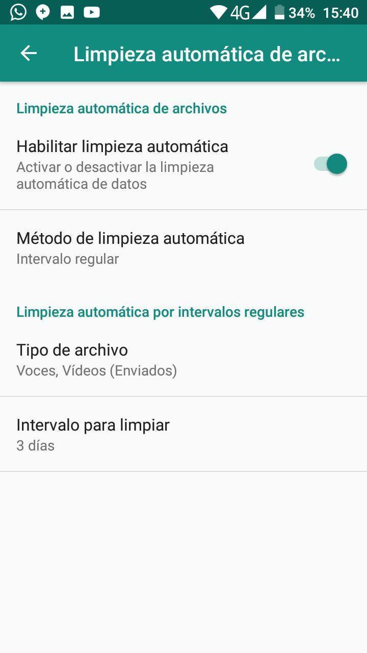 limpiar archivos basura en WhatsApp