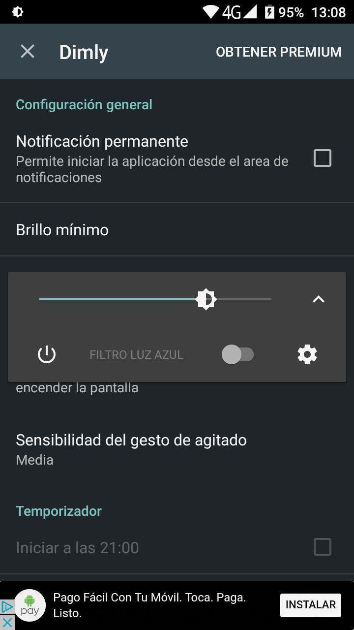 bajar brillo minimo de la pantalla en android