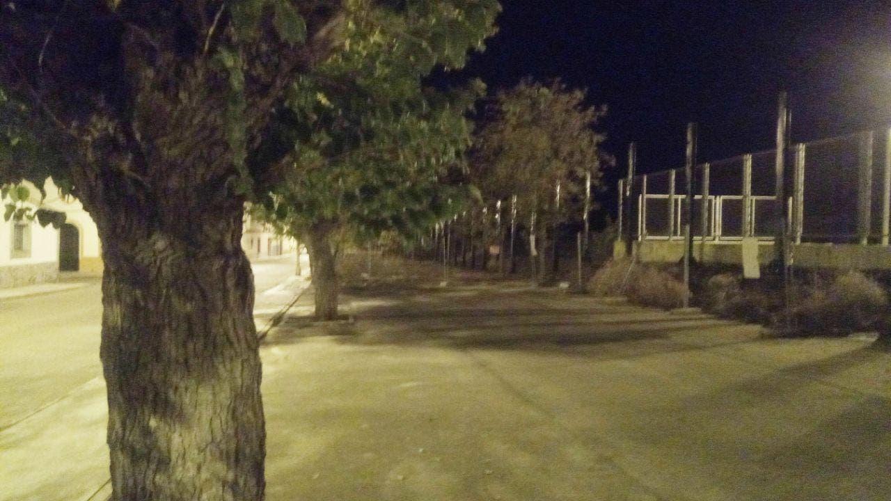 Fotografia nocturna iluminada