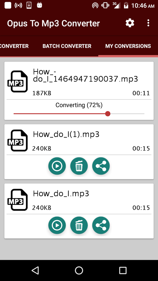 convertir audios de WhatsApp a mp3 aplicación