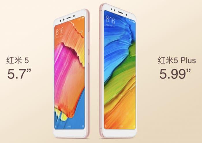 Los Xiaomi Redmi 5 y Redmi 5 Plus ya son oficiales con pantallas 18:9