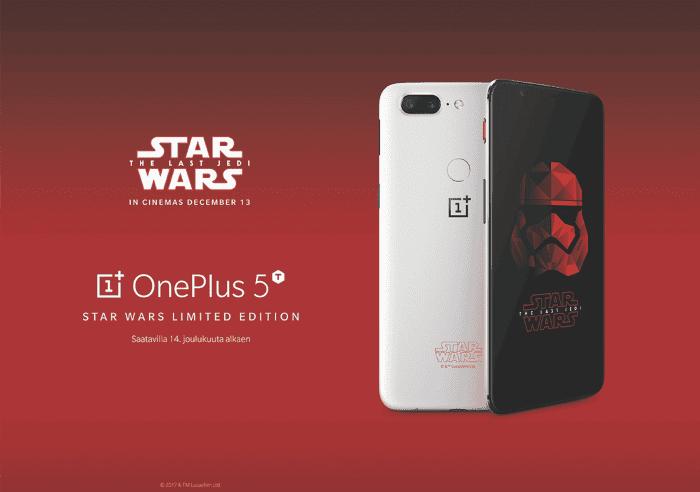 El OnePlus 5T Star Wars Edition confirmado oficialmente en Europa