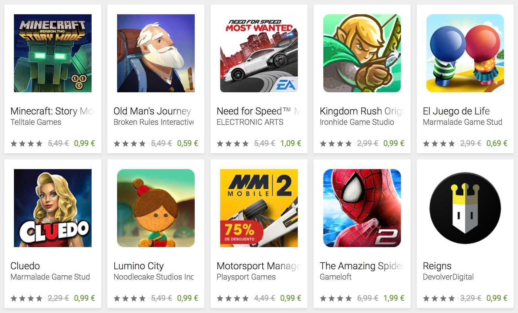 ofertas de navidad en juegos google play