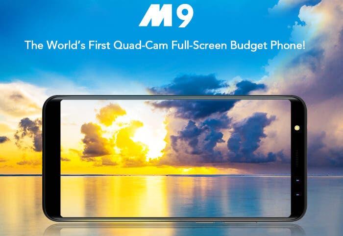 Leagoo M9, el móvil con pantalla 18:9 y 4 cámaras más barato del mercado
