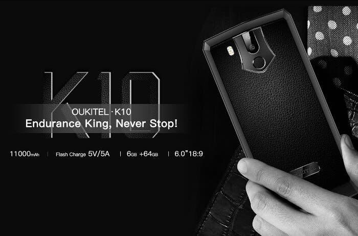 Oukitel sube la apuesta con el nuevo Oukitel K10, un móvil con 11.000 mAh de batería