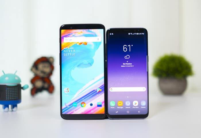 OnePlus 5T vs Galaxy S8: ¿es más rápido el Samsung con Android 8.0 Oreo?