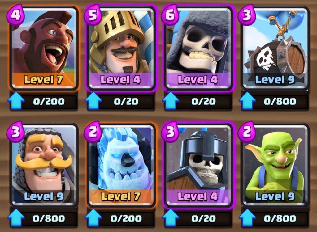 cartas balance clash royale