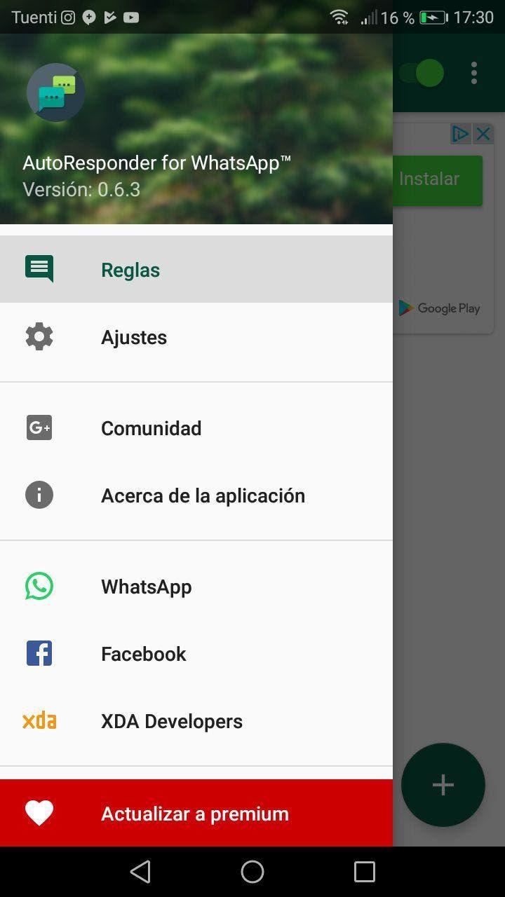 programar respuestas automáticas en WhatsApp