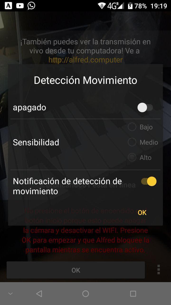 cámara espia en android