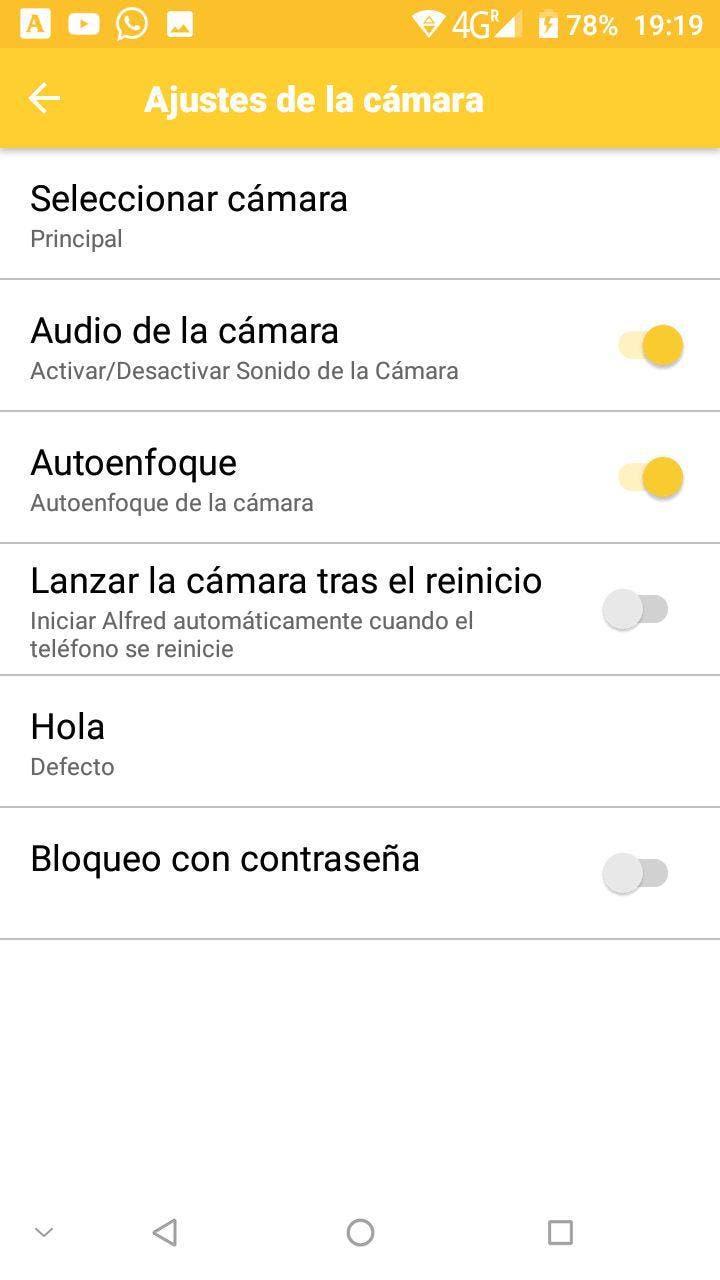 cámara de vigilancia en android