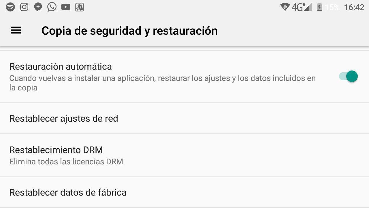 formatear un smartphone con android