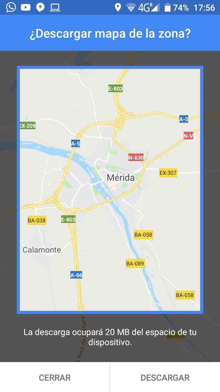 mapas sin conexión en google maps