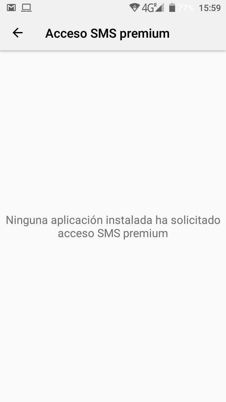 cancelar sms premium en android