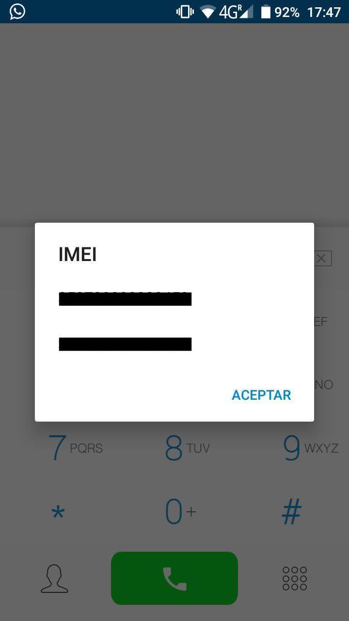 código imei en android