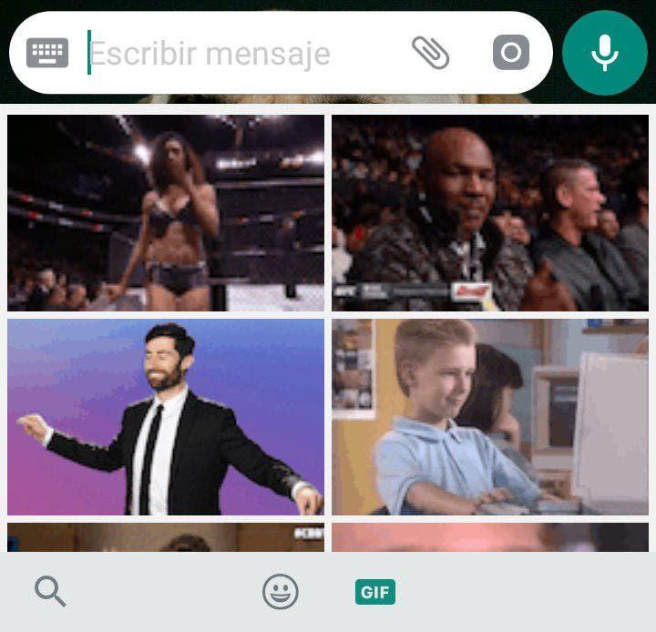 enviar GIF's en WhatsApp