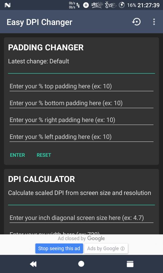 cambiar la resolución de la pantalla en Android
