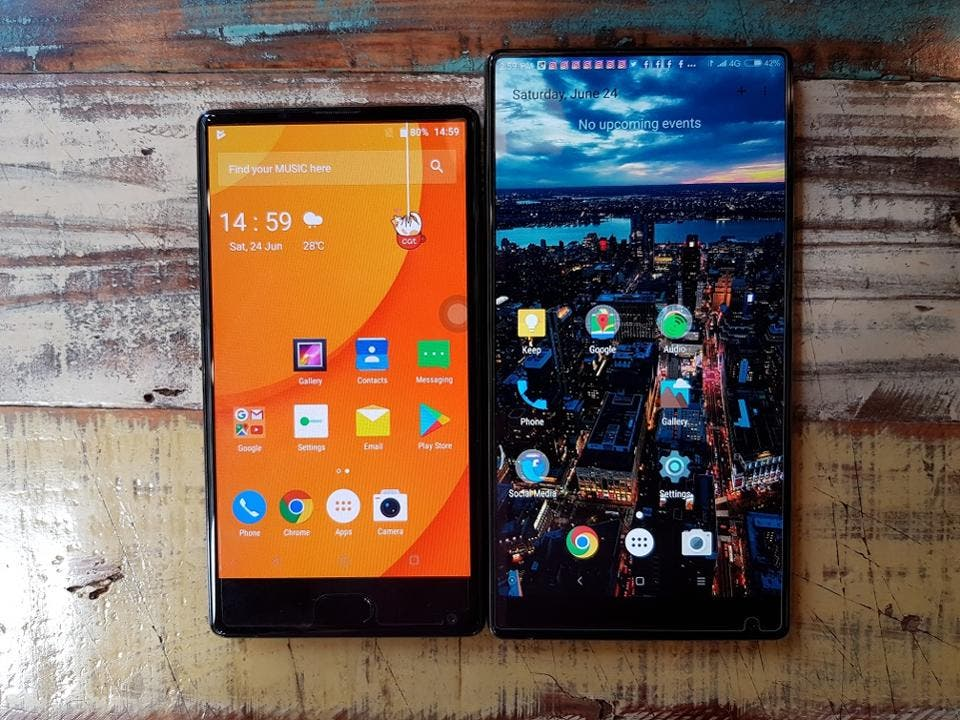 doogee mix vs mi mix