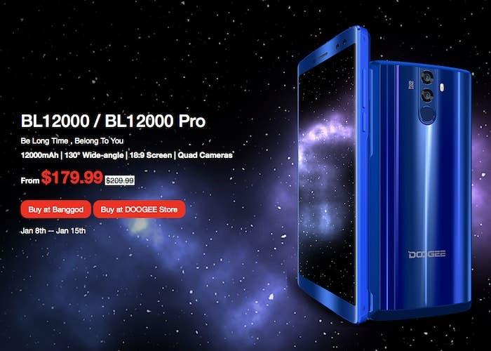 El nuevo Doogee BL12000 es presentado: 12000 mAh de batería por menos de 150 euros