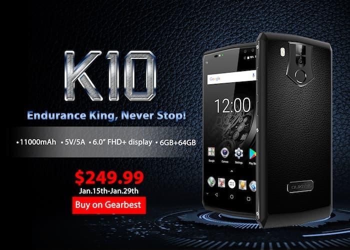 El nuevo Oukitel K10 a la venta por poco más de 200 euros