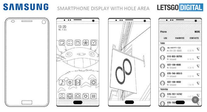patente samsung pantalla